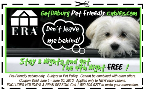 Get 1 Night Free in a Pet Friendly Cabin!